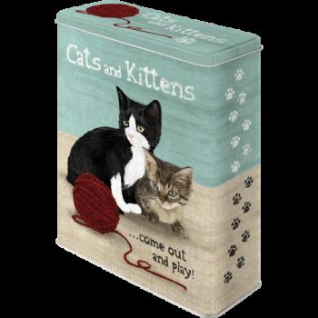 Кутия за котешка храна XL - Котки и котенцаК