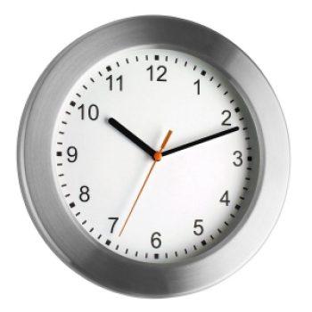 Стенен часовник с алуминиев обков