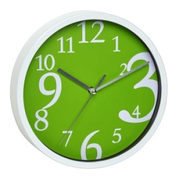 Стенен часовник с тих механизъм - зелен