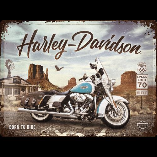 метална табела 30х40 Harley Davidson - Краля на пътя
