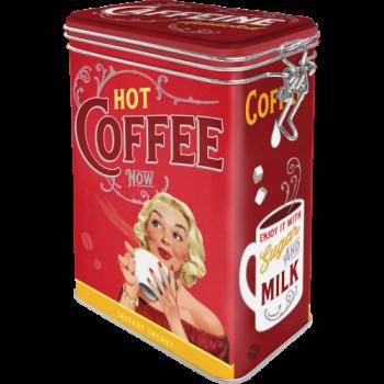 Кутия с клипс Горещо кафе сега