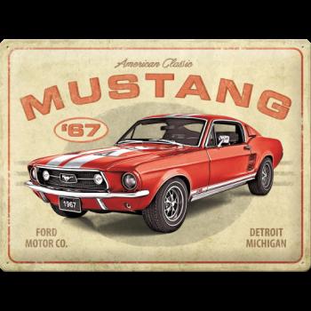 метална табела 30х40 FORD MUSTANG GT 1967