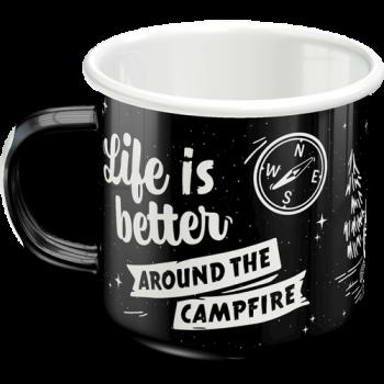 Емайлирано канче Животът е по-хубав край лагерния огън